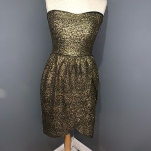 Event New Years Eve Gold Dress Woman's Large